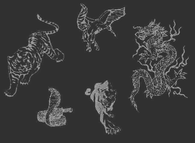 shaolin 5 animals